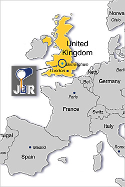 JBR Recovery - Location Map Europe